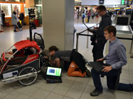 First data collection at Schiphol - Checking the results after getting back to the Schengen filter.