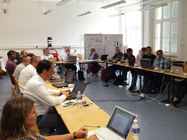 Fully focussed on the first review meeting in Freiburg.